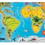 Magnetna karta svijeta za djecu